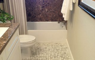 Tiled Bath floor & shower