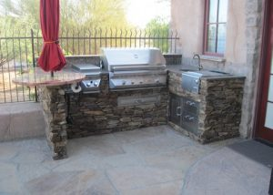 Custom Stone and Marble BBQ