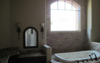 Stone tile bathroom