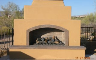 Canterra stone - outdoor fireplace - Versaille-pattern patio pavers