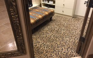 Fun Animal Print Carpet on Closet floor