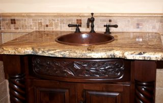 Granite slab countertop