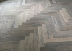 Hardwood Floor Herringbone Pattern