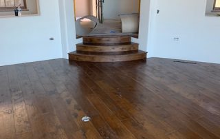 Hardwood Floor and Custom Made Wood Stairs