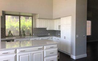 Kitchen Quartz Countertop, Tile Backsplash