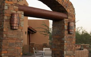 Ledgestone arched entry