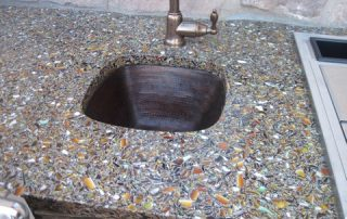 Custom Stone & Glass Sink