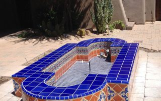 Outdoor Tiled Patio Fountain