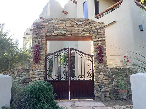 Stack Stone Front Entry gate