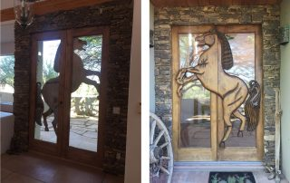 Stack Stone Front Entry Door Surround