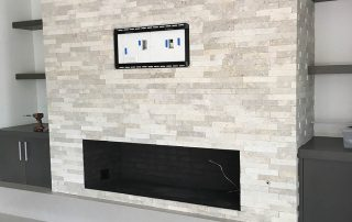 Stackstone Fireplace with Mitered Edges