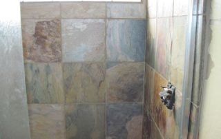 Stone tiled Shower