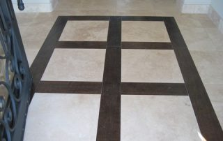 Wide Squares in entryway