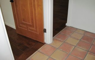 Wood Floor and Spanish Tile Meet