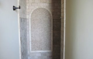 Custom stone shower