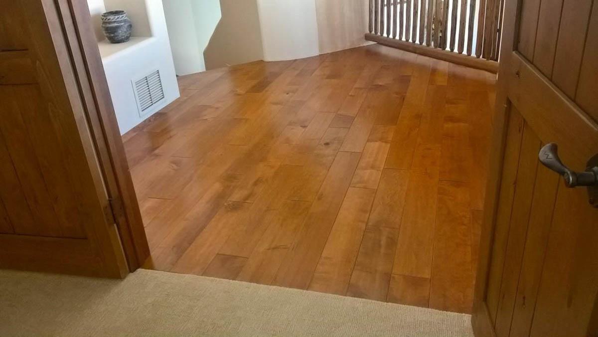 wood floor meets carpet