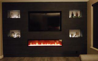 Fireplace Enclosure Porcelain Tile