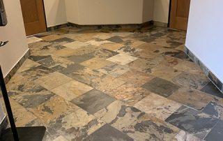 Slate tile with 3 coats of clear coat sealer