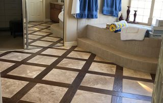 Travertine & Wood Pattern Floor